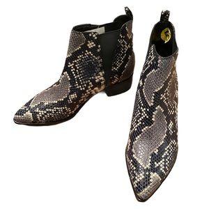NWT Marc Fisher Ltd Snakeskin Yale Chelsea bootie